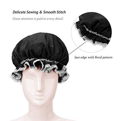 Amazon Lulusilk Mulberry Silk Lace Edge Sleep Night Cap Head