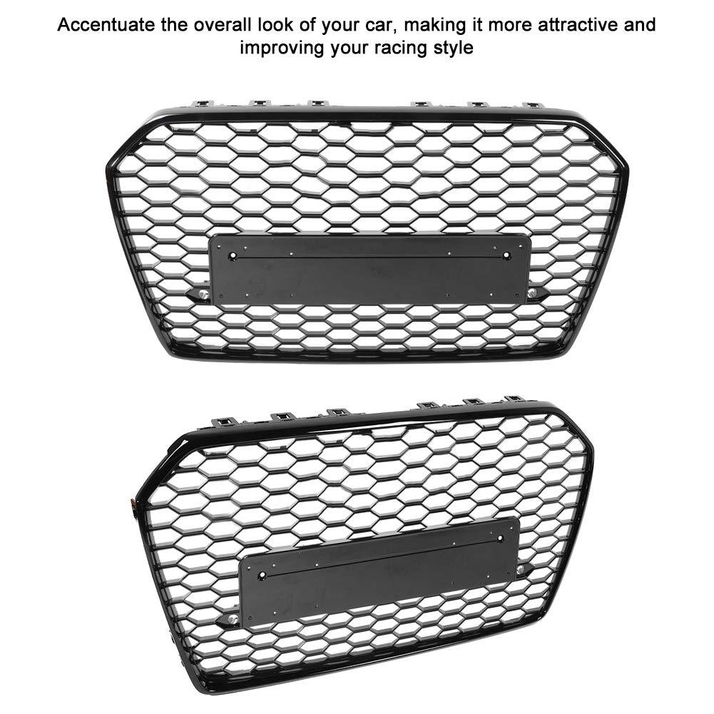 Griglia centrale per paraurti anteriore Duokon RS6 stile griglia a nido dape per A6//S6 2016 2017 2018