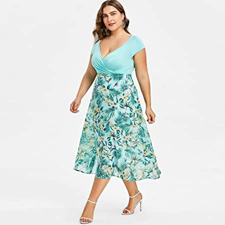 Vestido de Fiesta de Talla grande Mujer, Elegante Vestido de Baile de fin de Curso Largo Vestido Formal LMMVP LMMVP (Verde, XXXXXL): Amazon.es: Hogar