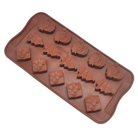 Isuper Pastel de moldes de Silicona Pasteles de Santa Claus moldes del Chocolate/Pasta/