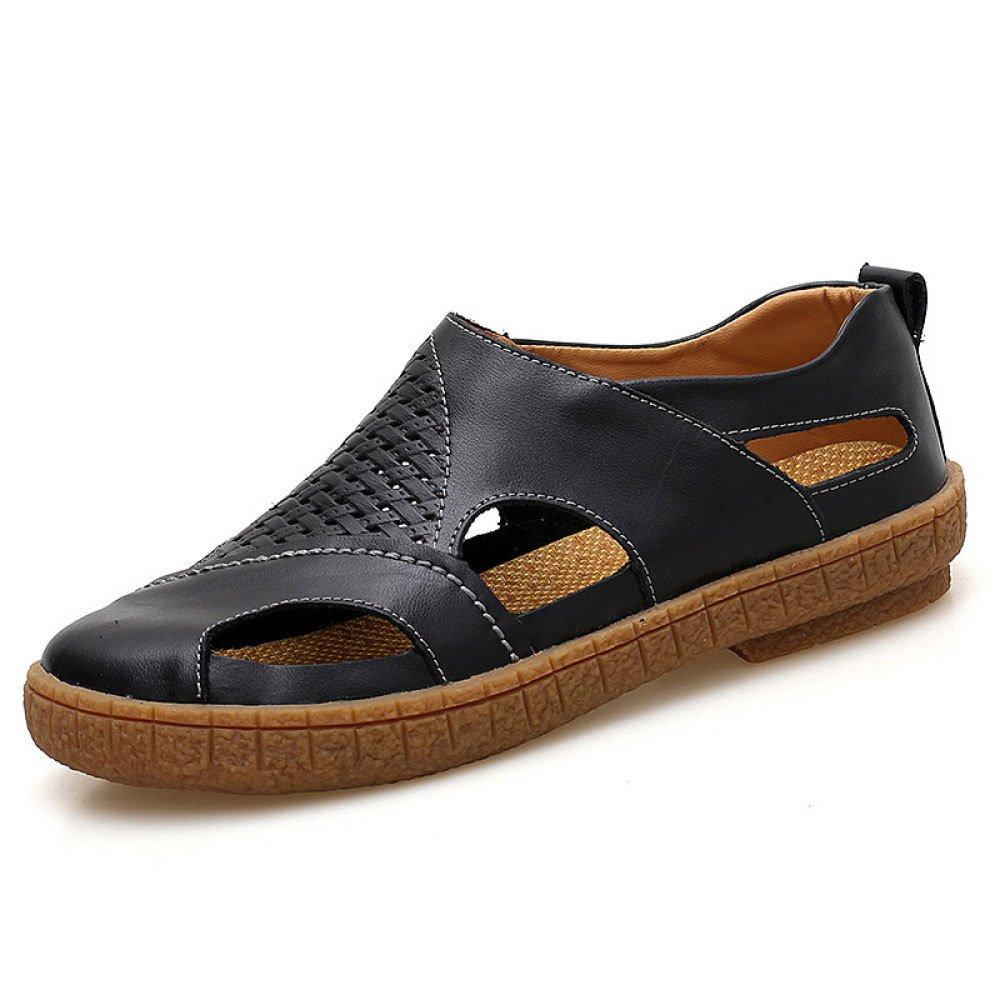 Sandalias De Moda De Verano Zapatos Cómodos Salvajes Comodines Zapatos De Hombres Respirables 40 EU|Black