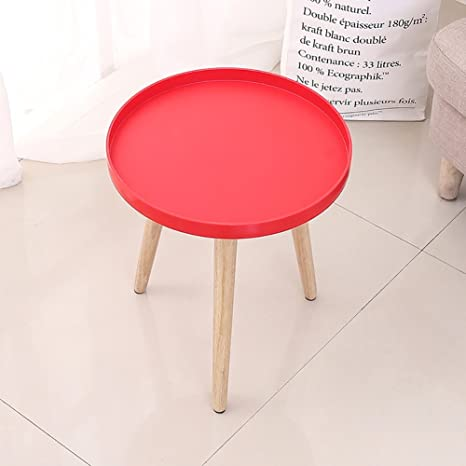 Tavolino Da Soggiorno Rosso.D L Legno Massello Impermeabile Tavolino Da Salotto Tondo