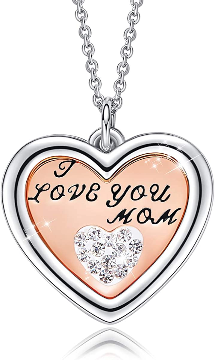 love symbol necklace Love necklace gold necklace for mom Mother/'s Day Big Event gift for her Love jewelry for women
