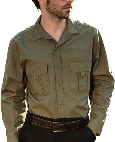 Seibertron Pro Impermeable/Repelente de Agua Manga Larga Ligera Camisa tactica Verde XXL