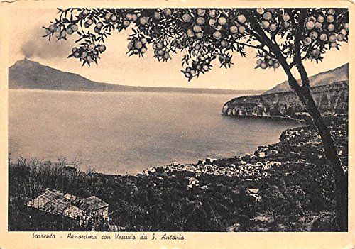 Panorama con Vesuvio da S Antonio Sorrento Indonesia, Republik Indonesia Postcard