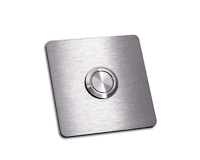 Timbre de acero inoxidable con botón «Schäfer-b», sin LED ...