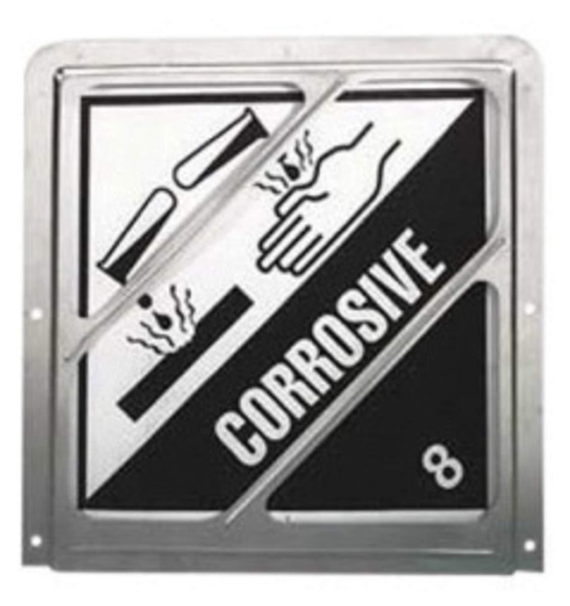 Brady 10 3/4'' X 10 3/4'' Silver Aluminum Placard Holder