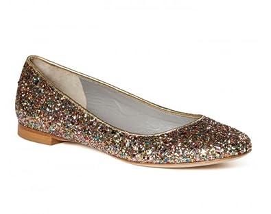 b4Ballerinas Damen Glitzer Ballerina: : Schuhe