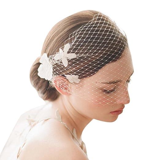 Amazon.com: Aurora Bridal Women\'s Wedding Hair Comb Flowers Bridal ...