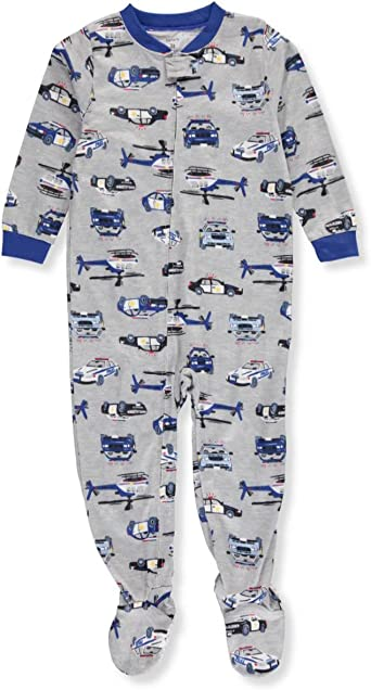 Leveret Baby Boys Police Car Footed Sleeper Pajama 100/% Cotton Size 6M-5Y