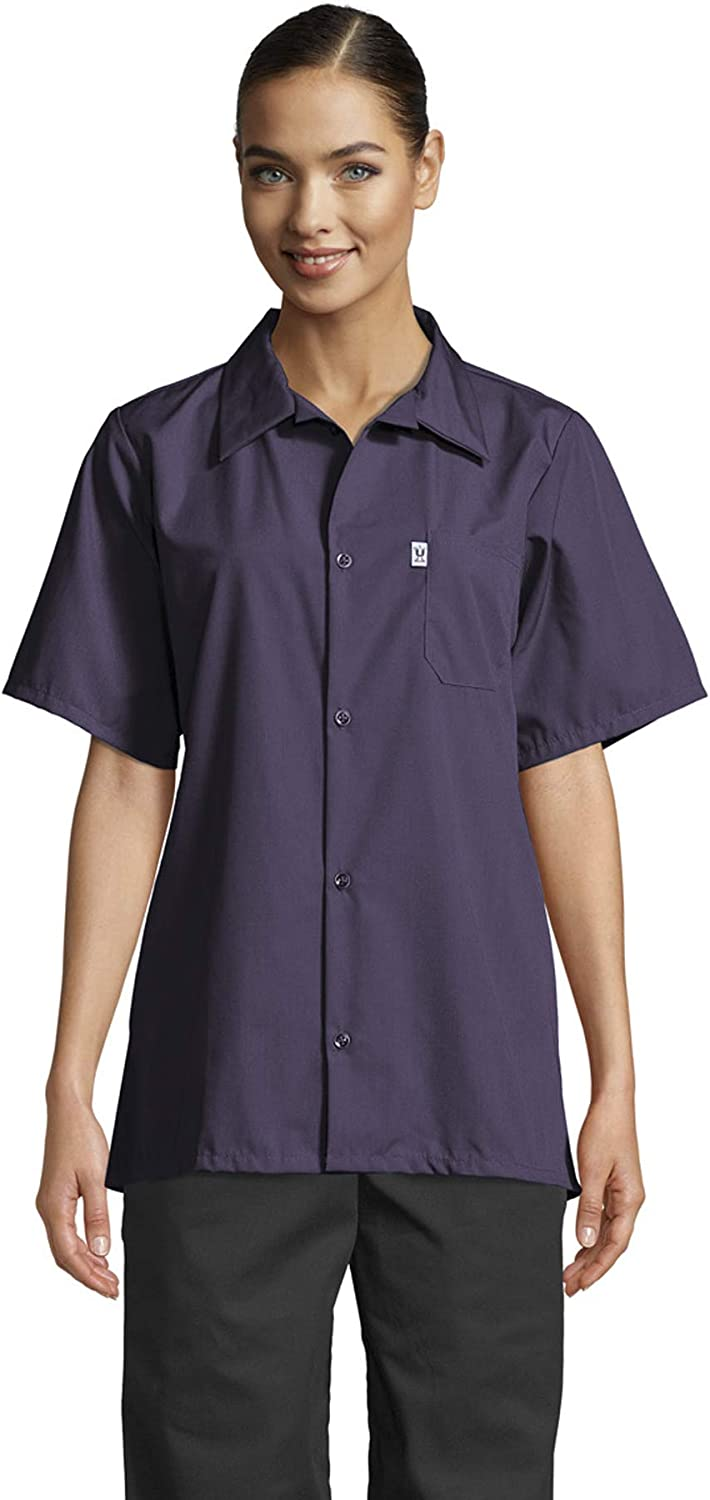 Uncommon Threads Unisex Short Sleeve Chef Cook Utility Shirt Classic