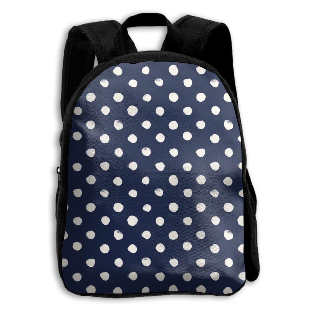sdeyr79スタイリッシュな子Polka Dot Navy学校バックパックBookbags Middle Bags Daypack For Boys Girls   B07FZTSH3X