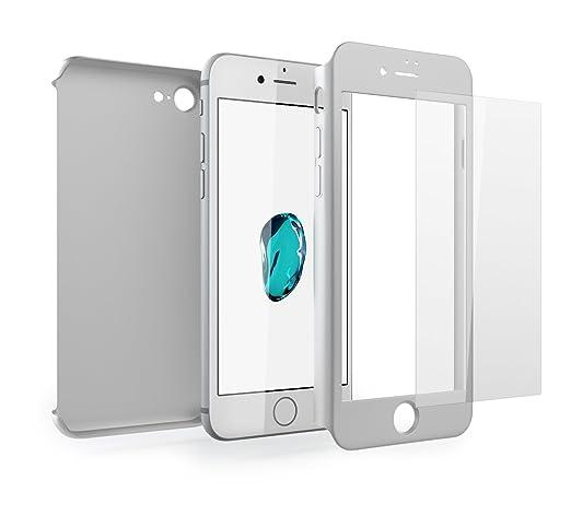 156 opinioni per Cover iPhone 7 360 Gradi + Pellicola Vetro Temperato, Mobilyos® [ 360 ° ] [