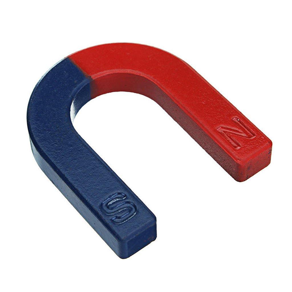U Shaped Horseshoe Magnet Red Blue Painted Pole Physics Experiment Teaching 60mm SGerste