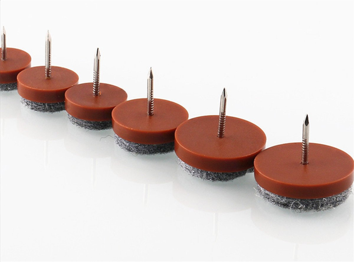 YYaaloa 60pcs 1.1 Brown Nail-on Anti-Sliding Felt Pad 28mm//1.1 Brown 60pcs Protector Feet Pads