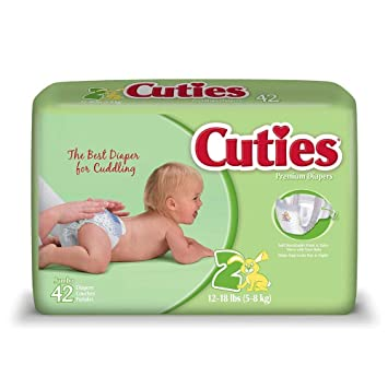 Cuties Premium Baby Diapers, Size 2, Pack 42
