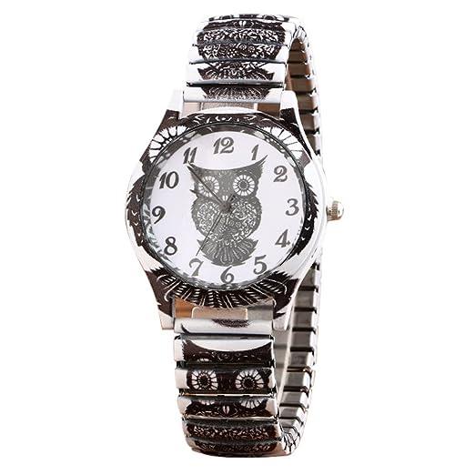 VEHOME Movimiento de Cuarzo búho Relojes Alloy Harajuku Wind-Relojes Inteligentes relojero Reloj reloje hombresRelojes de Pulsera Marcas Deportivos: ...