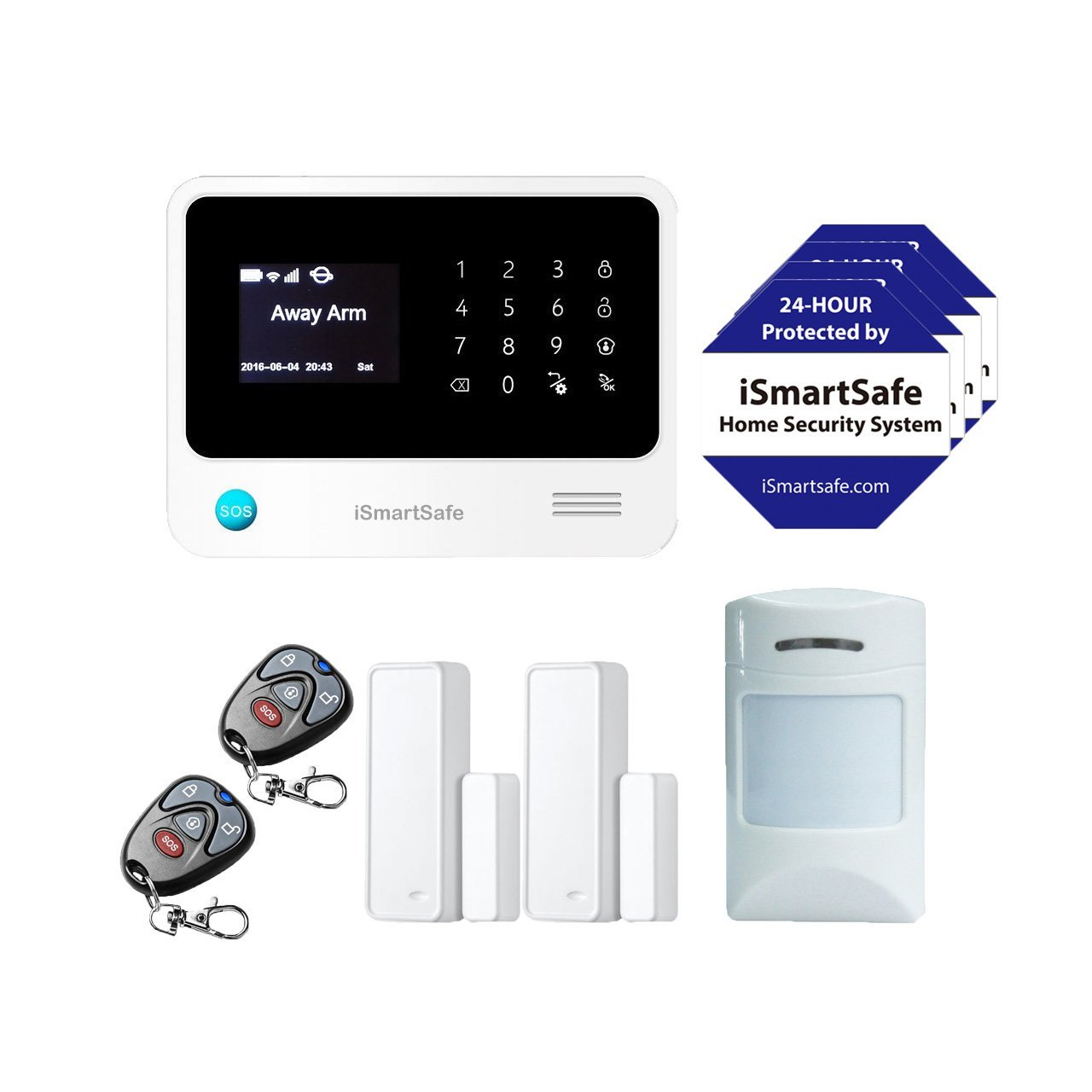 Amazon com   iSmartSafe Wireless Home Security System Basic Package    Cellular and WiFi Burglar Alarm   White   Camera   Photo. Amazon com   iSmartSafe Wireless Home Security System Basic