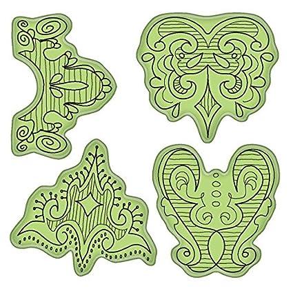 Elegant Nouveau Inkadinkado Stamping Gear Cling Stamps