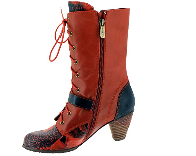 Botas y botines Laura Vita, color rojo ahumado, rojo (rojo), 38 EU