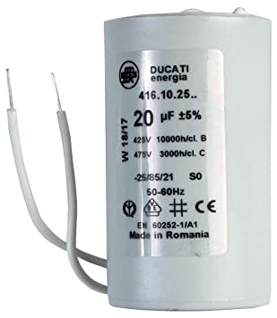 Capacitor 20µf 450vac 5 Pp Can Amazoncouk Electronics