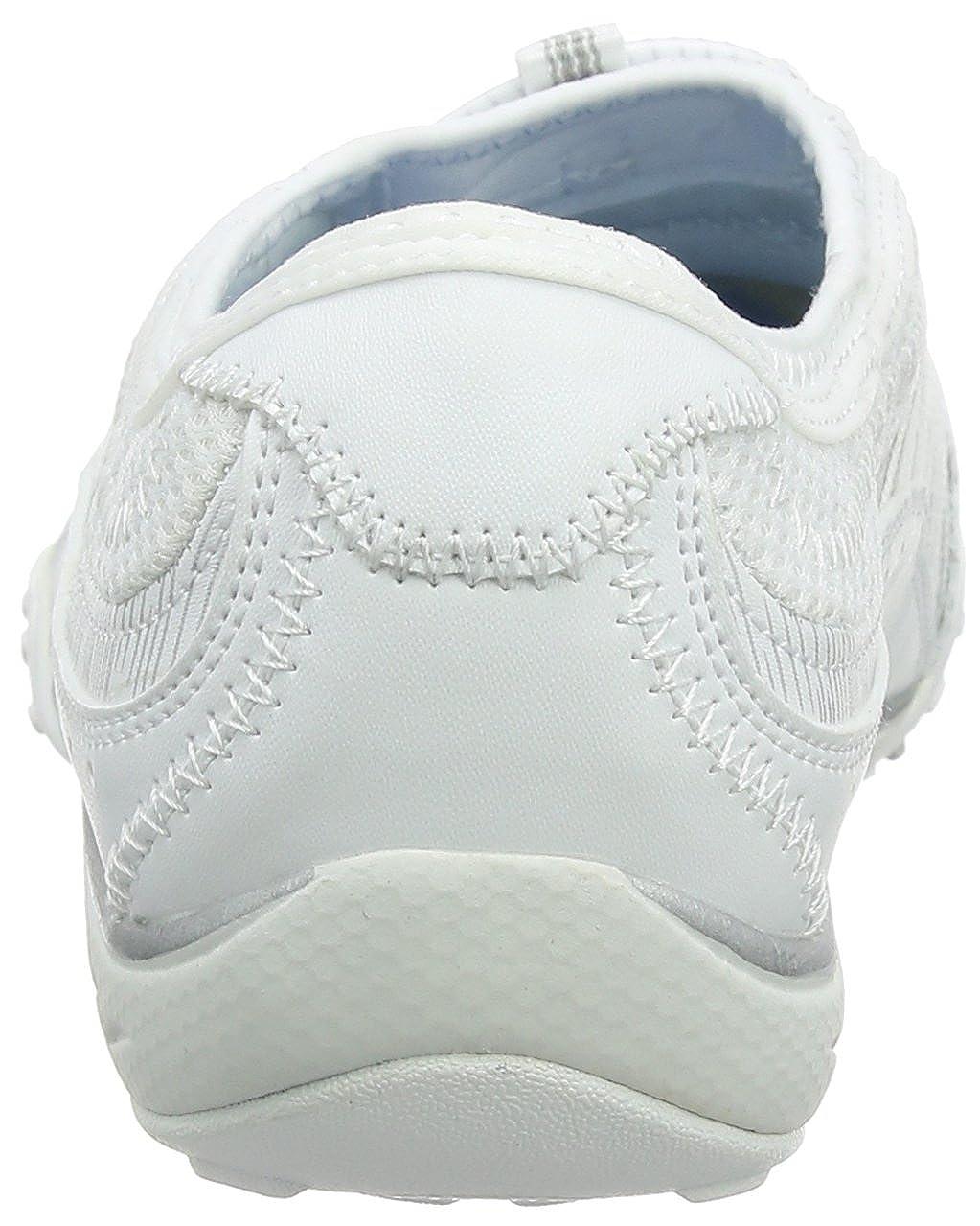 Skechers Damen Breathe Easy - Point Taken Sneaker Weiß (White/Silver)