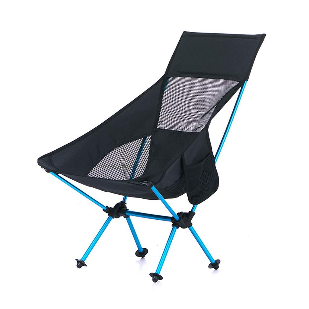 Im Freien tragbarer Klappstuhl-Ultra Heller Fischen-Stuhl-kampierender Strand-Freizeit-Skizzen-Mond-Stuhl kann Gewicht 90kg tragen