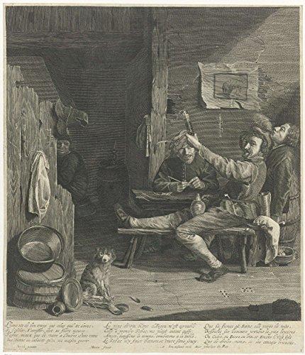 Classic Art Poster   Interior Of An Inn With Drinking And Smoking Gentlemen  Marinus Robyn Van Der Goes  1609   1639 20 5  X 24