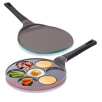 Neoflam no stic con revestimiento de cerámica cacerola sartén para tortitas de sección y sartén para