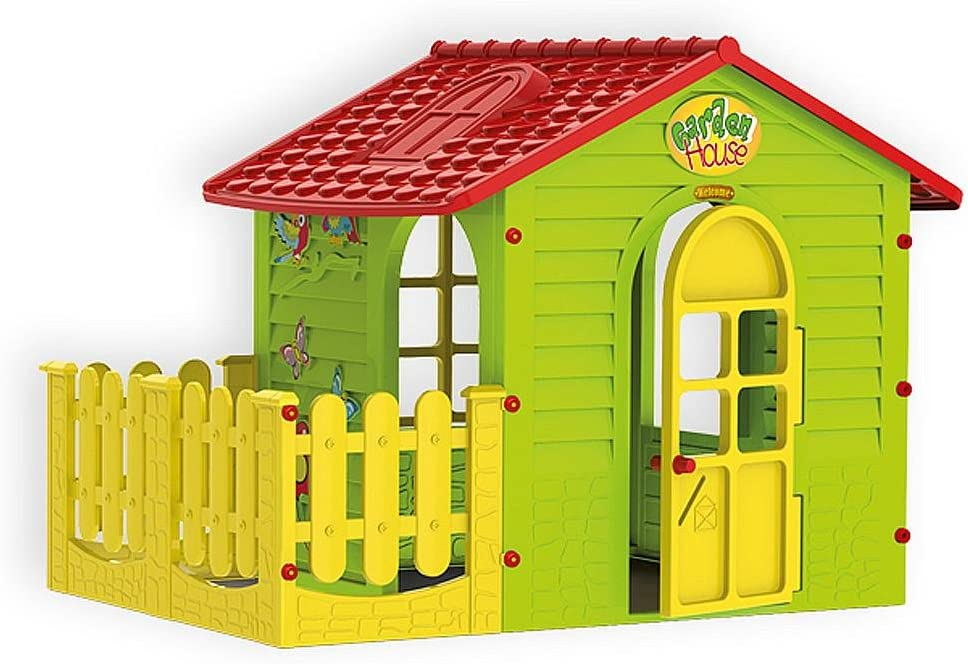 Moch Toys 5907442108392 Casa de Juguete para Interior y Exterior con Valla, Jardín Hogar Niño, Parte Dispositivo: Amazon.es: Juguetes y juegos