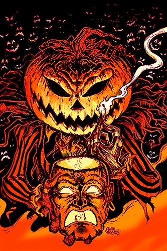 Monsterman Graphic 3 SIZES Halloween Pumpkin King poster print (Lord O' Lanterns) Jack o Lantern samhain horror by artist Scott Jackson (16x24 inches)
