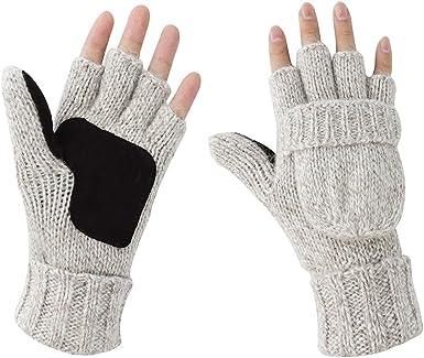 wenjuersty Guantes sin dedos convertibles para beb/é de invierno con cubierta de manoplas