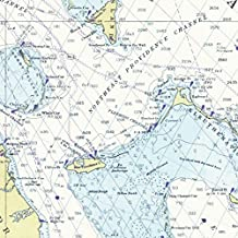 """Nautical Chart Gift Wrapping Paper - Premium 28""""X20"""" 5-Sheet Wrap Pack. Beautiful Straits Of Florida, Bahamas Map Edition. Unique, High Quality & Recyclable - From Journo."""