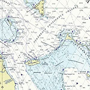 """Nautical Chart Gift Wrapping Paper - Premium 28""""X20"""" 5-Sheet Wrap Pack. Beautiful Straits Of Florida, Bahamas Map Edition. Unique, Durable & Recyclable - From Journo Travel. (2 STYLES AVAILABLE)"""