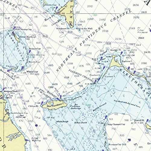 Gift Wrap 2 Rolls - Nautical Chart Gift Wrapping Paper - Premium 28