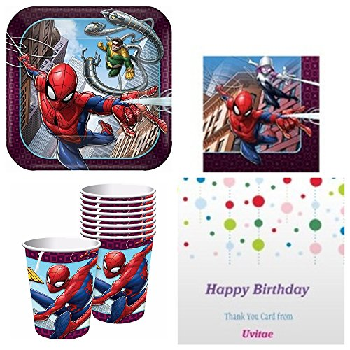 Spiderman Party Supplies Standard Kit (serves 8 guests)