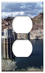 Lake Mead Reservoir Hoover Dam Nevada Concrete -Outlet Cover Switch Plate