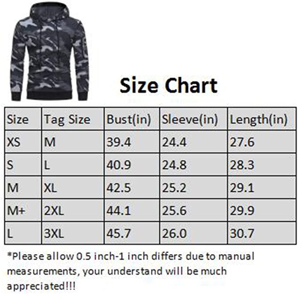 Hans Room Mens Camouflage Long Sleeve Active Pullover Hoodie Cozy Sport Outwear