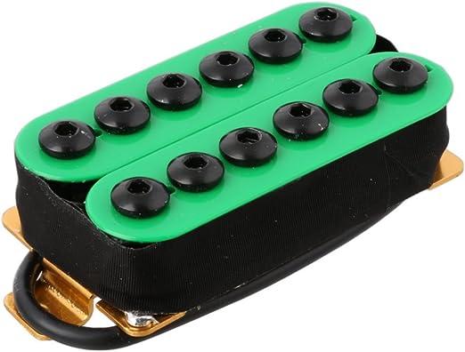 yibuy Par de Pastillas para guitarra el/éctrica de metal rojo con imanes /& Cer/ámica umbrella-head Tornillos