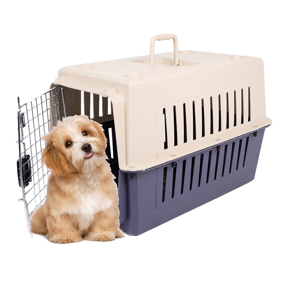 KARMAS PRODUCT Small Plastic Cat & Dog Carrier Cage Portable Pet Box Airline Approved