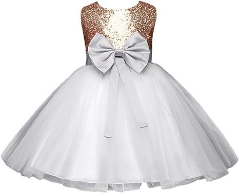 Y Boa Robe Princesse Demoiselle Bapteme Mariage Enfant Fille Robe Tutu Nœud Amazon Fr Vetements Et Accessoires