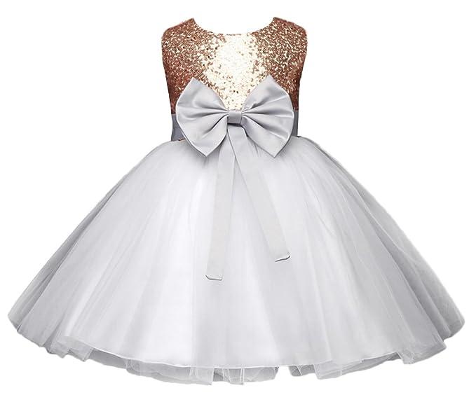 comprando ora online scegli genuino MARRYME Battesimo Tutu Vestito Paillettes Abito Bimba ...