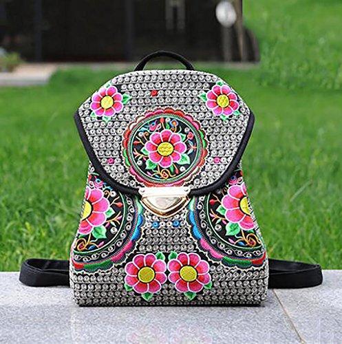 La flor del hombro Bolso bordado / Mujer Paquete simple ocio ( Color : 13# ) 10#