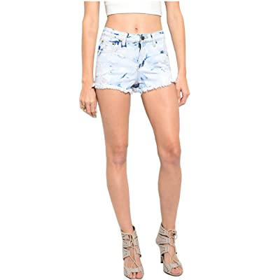 2LUV Women's Cutoff High Waisted Denim Jean Shorts