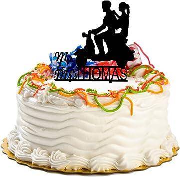 Ecape Señor y señora personalizada boda de tartas – novia y novio ...