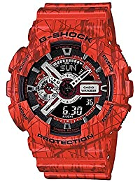 Casio - G-Shock - Slash Print Series - Red Analog Digital Resin G-Shock watch - GA110SL-4A