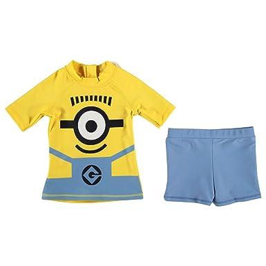 8c953f6f6333c Despicable Me Minions Swim Set Infant Boys YEL/Blue Swimming Costume  Beachwear: Amazon.co.uk: Clothing