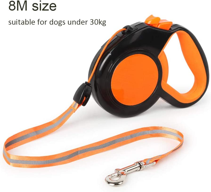 Leikance Traction Seil kann automatisch Stretch Hundeleine 3//5//8M Trainingsleine Slip Night Reflektierend