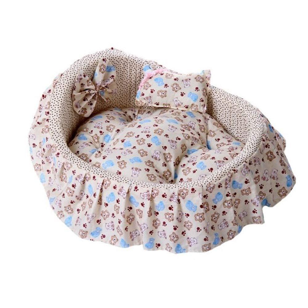 HONGNA Cotton Teddy Four Seasons Seating Princess Princess Princess Bed Deep Sleeping Cat Worm Kennel Dog Mat Pet Mat