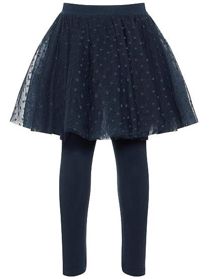 NAME IT Falda Tul con Legging NIÑA NALLA - 92, Dark Sapphire ...